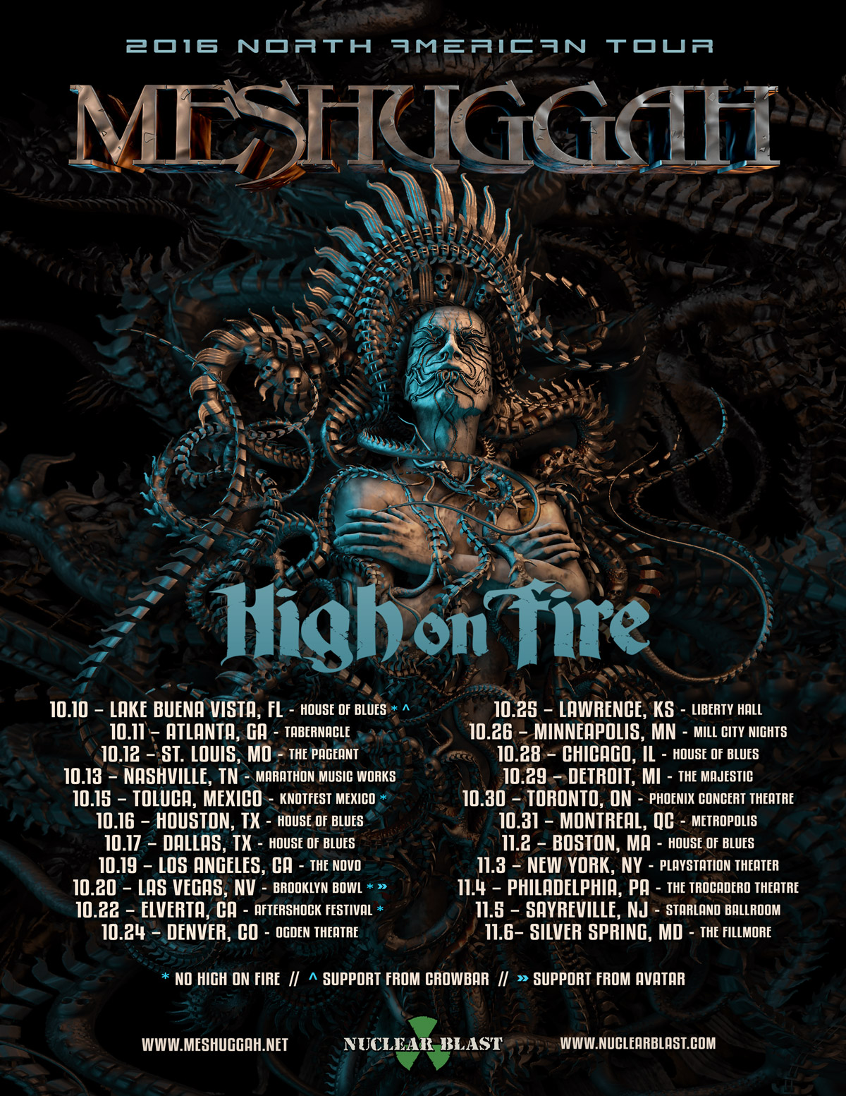 Meshuggah Release New Music Video Announce US Tour Dates With High OnFire