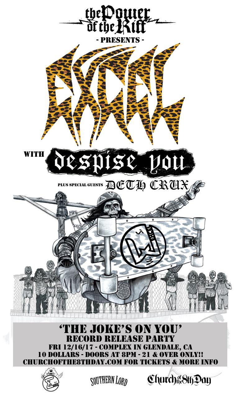 Deth Crux Added To The Power Of The Riff Pre-Party With Excel, and Despise You