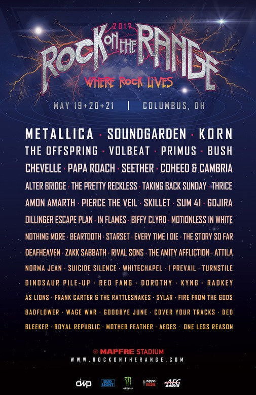 Metallica, Soundgarden, Amon Amarth To Rage At Rock On The Range 2017