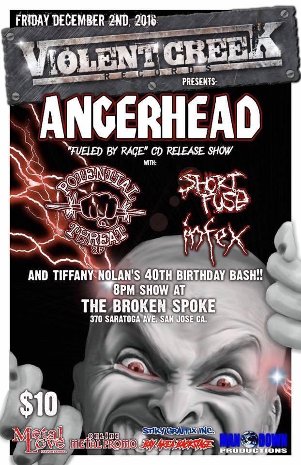 Angerhead Announce Epic Bay Area CD Release Show in San Jose,California