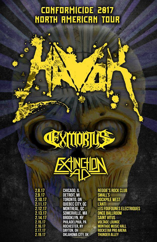 Exmortus Interviewed In San Francisco, California And Tour Announcement
