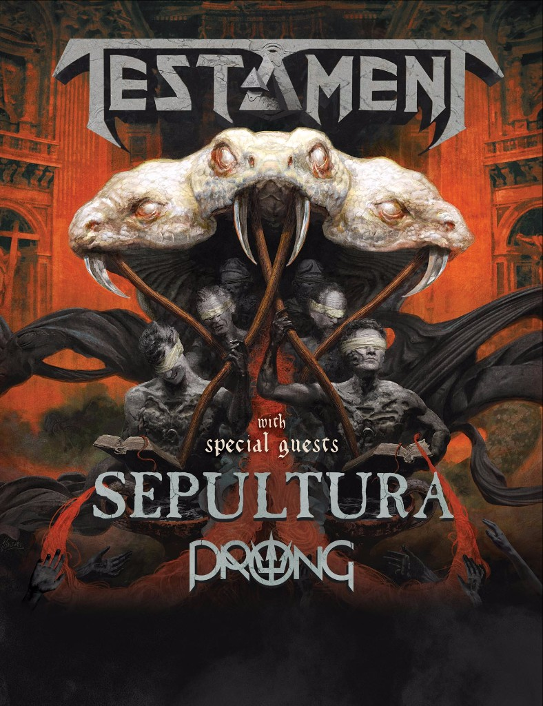 TESTAMENT announce North American tour w/ SEPULTURA and PRONG