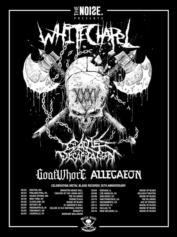 Celebrate 35 years of Metal Blade Records with Whitechapel and Cattle Decapitation