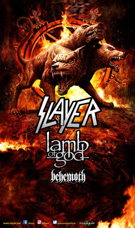 Lamb Of God to Support Slayer on 2017 Summer Tour, Also FeaturingBehemoth