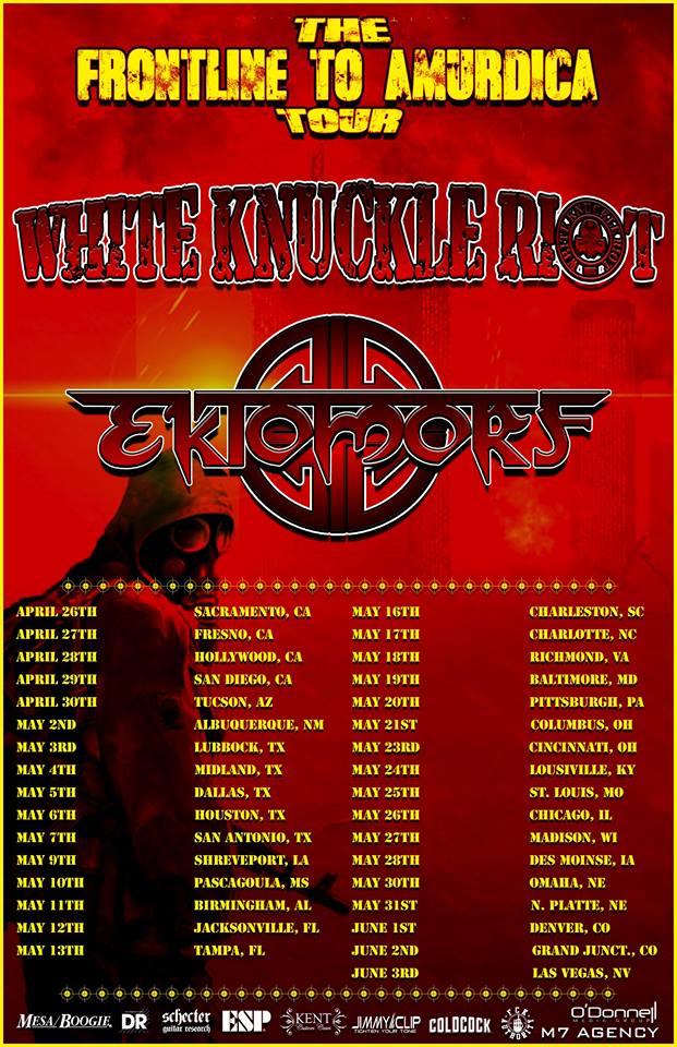 Sacramento's White Knuckle Riot Announce U.S. HeadliningTour