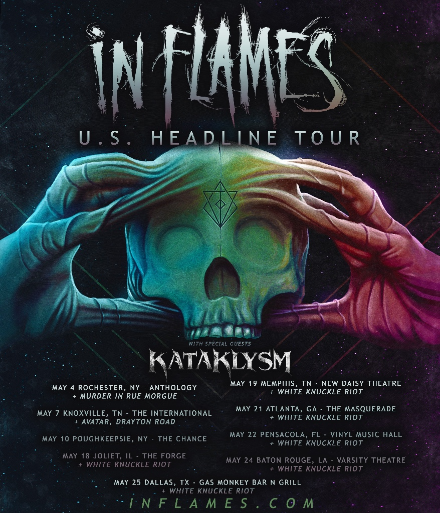Kataklysm announce U.S tour with In Flames and Sacramento's White Knuckle Riot On SelectDates