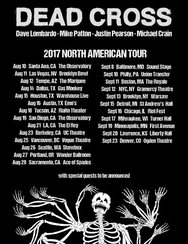 Dead Cross Announce North AmericanTour