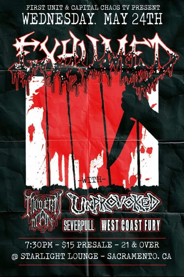 Watch Exhumed Perform In Sacramento, California