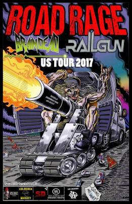 Railgun, Brain Dead, Scythe & Incredulous @ The Colony Sacramento...September 17th...all ages