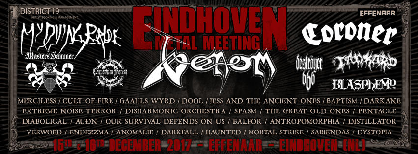 Eindhoven Metal Meeting Completes Line Up