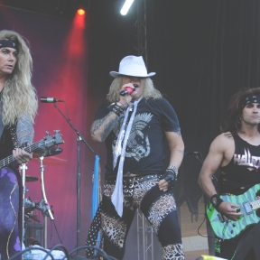 Satchel, Michael Starr & Lexxi Foxx of Steel Panther @ Aftershock 2017