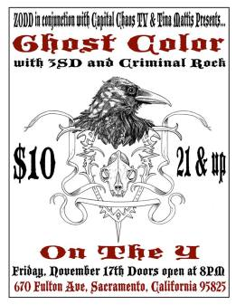 3SD, Ghost Color and Criminal Rock @ On The Y