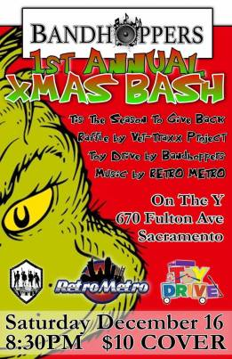Bring a toy for the toy drive.  Raffle benefitting Vet- Traxx Project Inc. DONT MISS THIS!!   Retro Metro Band Retro Metro is Sacramento's newest high-end, high-energy party and dance band! Highly professional, talented, energetic, and sautéed in awesome sauce!