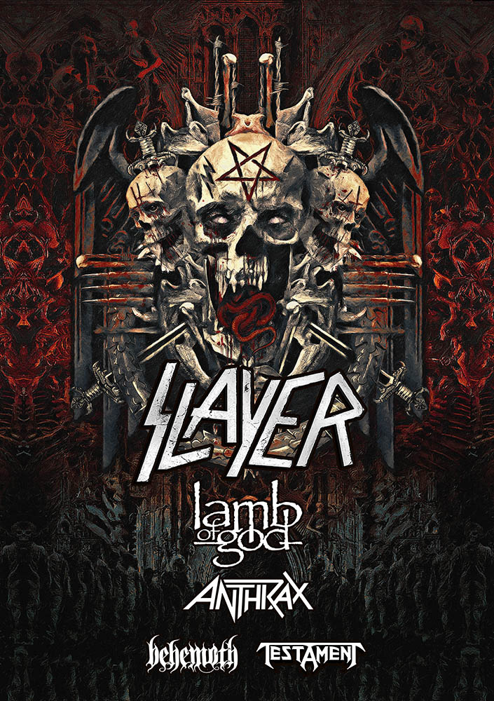 LAMB OF GOD to Perform on North American Leg of Slayer's Final World Tour