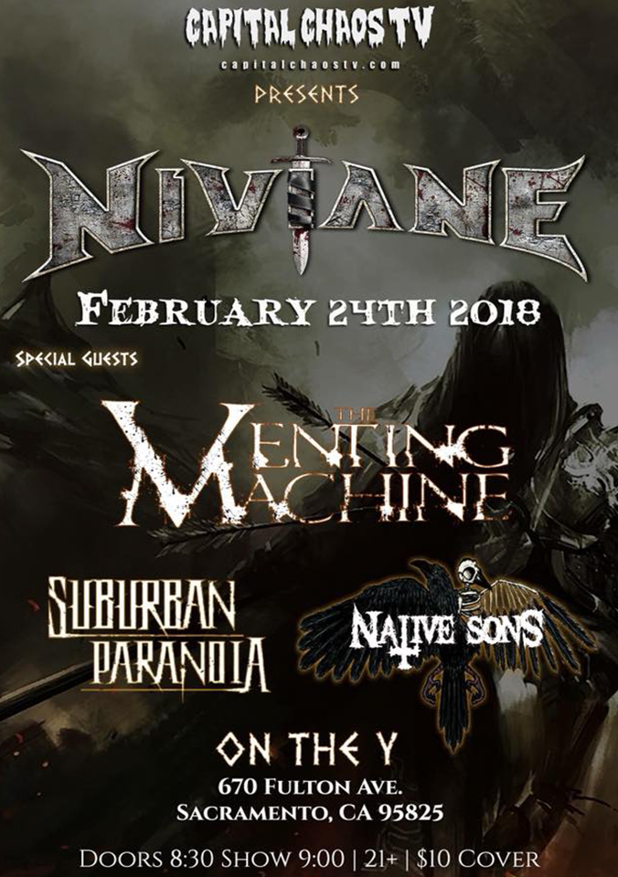 Niviane, The Venting Machine, Suburban Paranoia, Native Sons