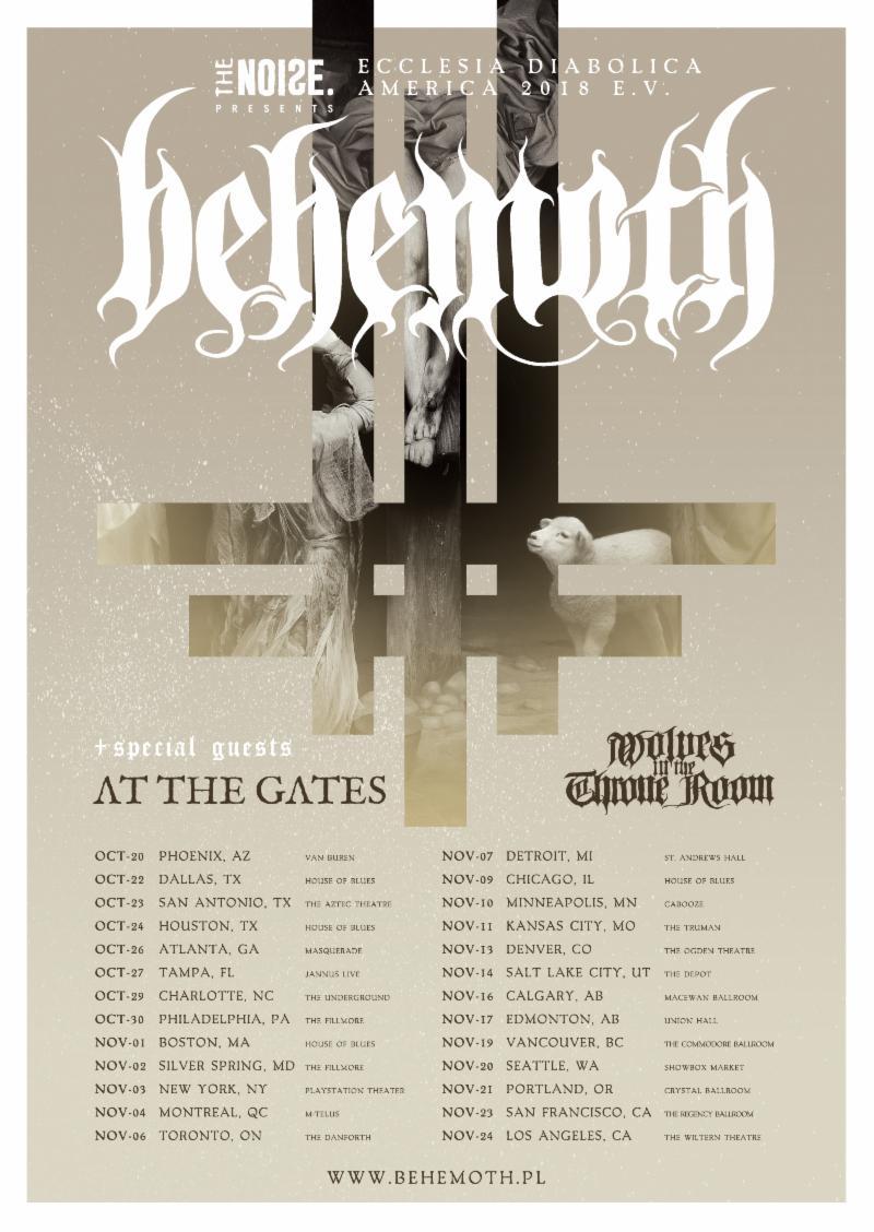 BEHEMOTH Announces North American Ecclesia Diabolica America2018