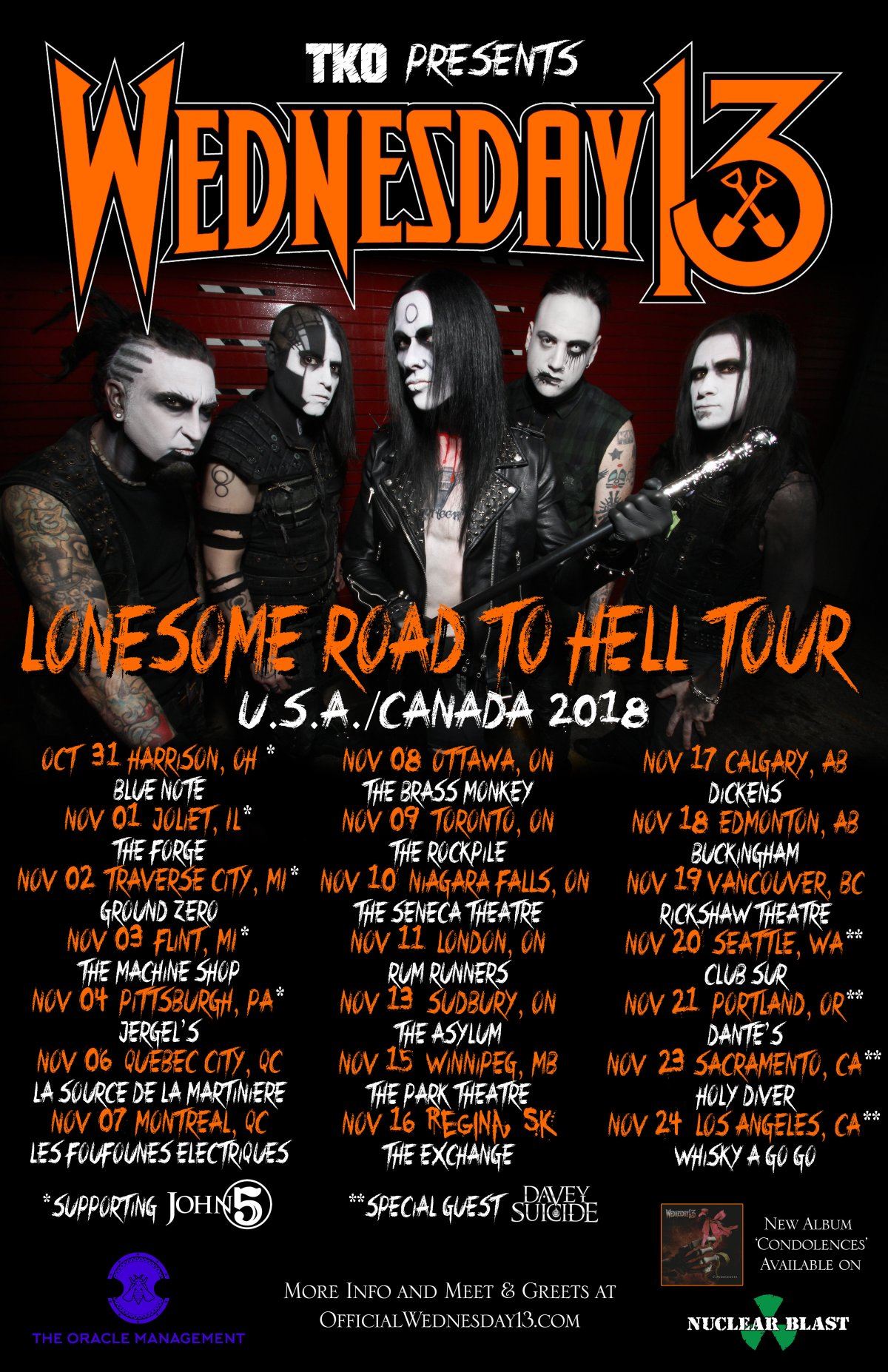 Wednesday13announces North American tourdates.