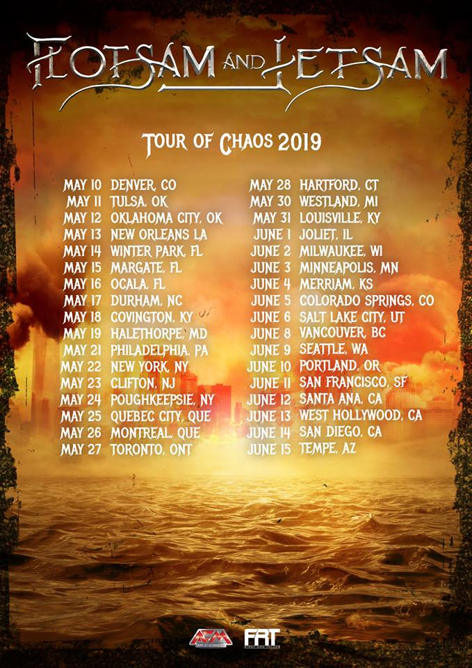 Flotsam and Jetsam Announce North America Tour Of Chaos2019