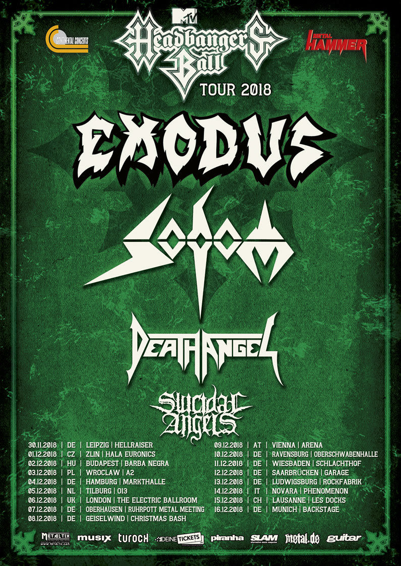 SODOM Release Trailer for New EP and MTV Headbangers Ball Tour!
