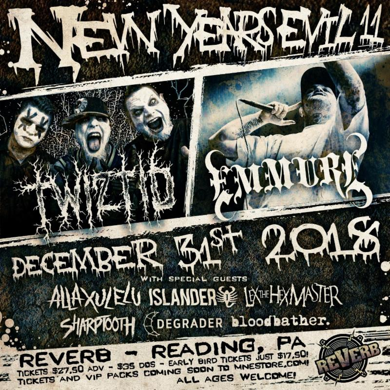 TWIZTID Announces New Years Evil Concert Featuring Co-Headliners Emmure