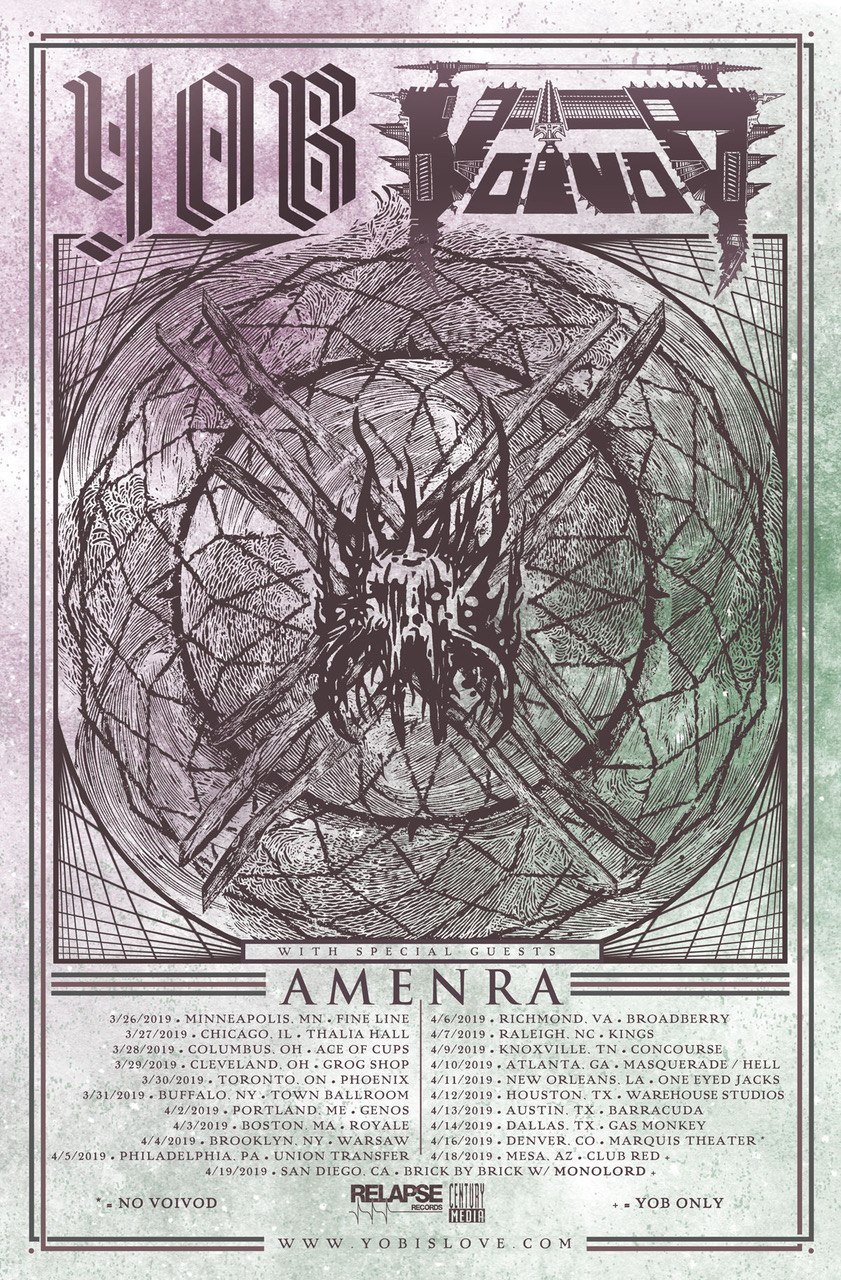 YOB Announce Spring 2019 Tour With VOIVOD & AMENRA