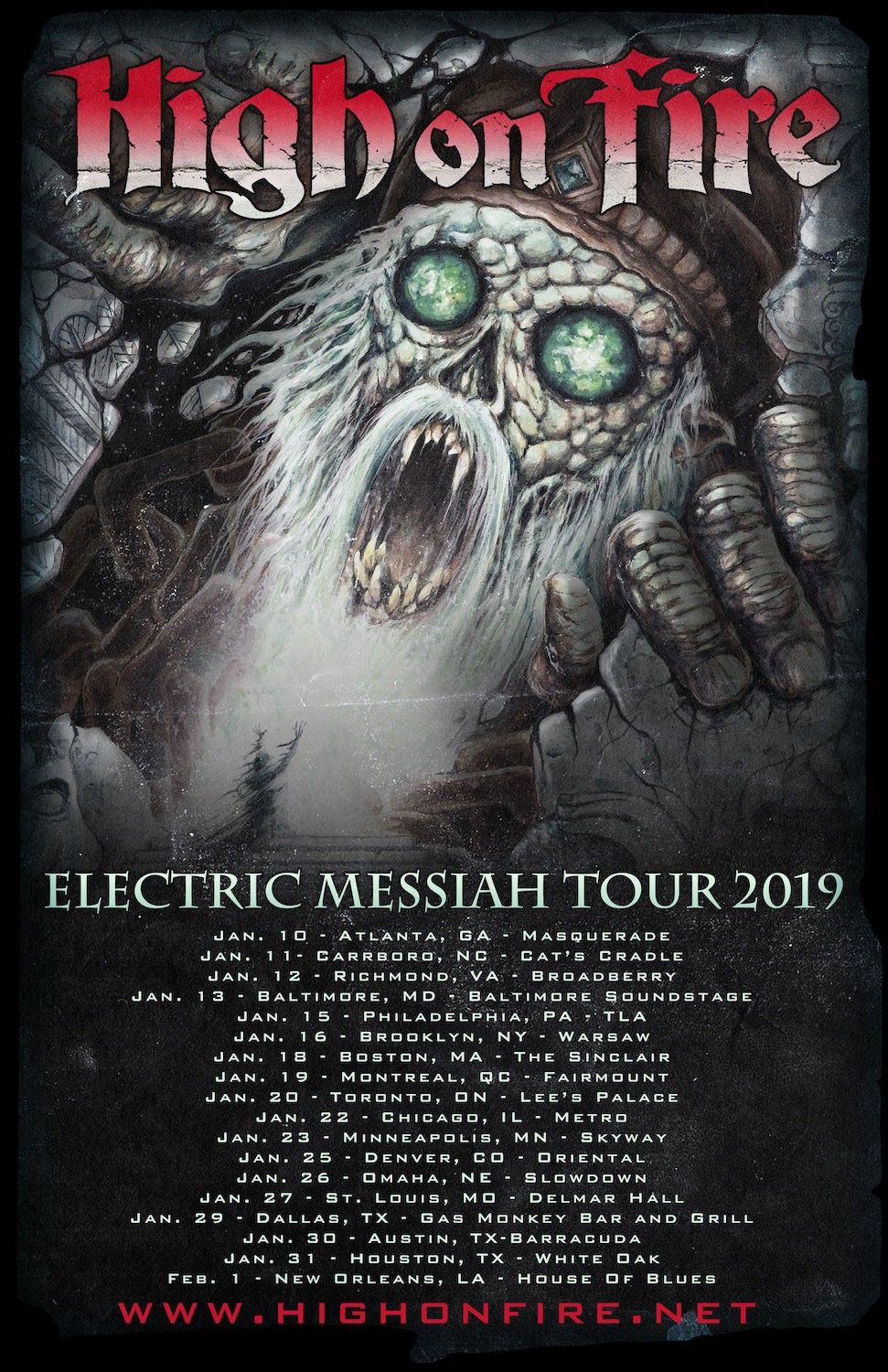 High On Fire Announce The Electric Messiah Tour 2019