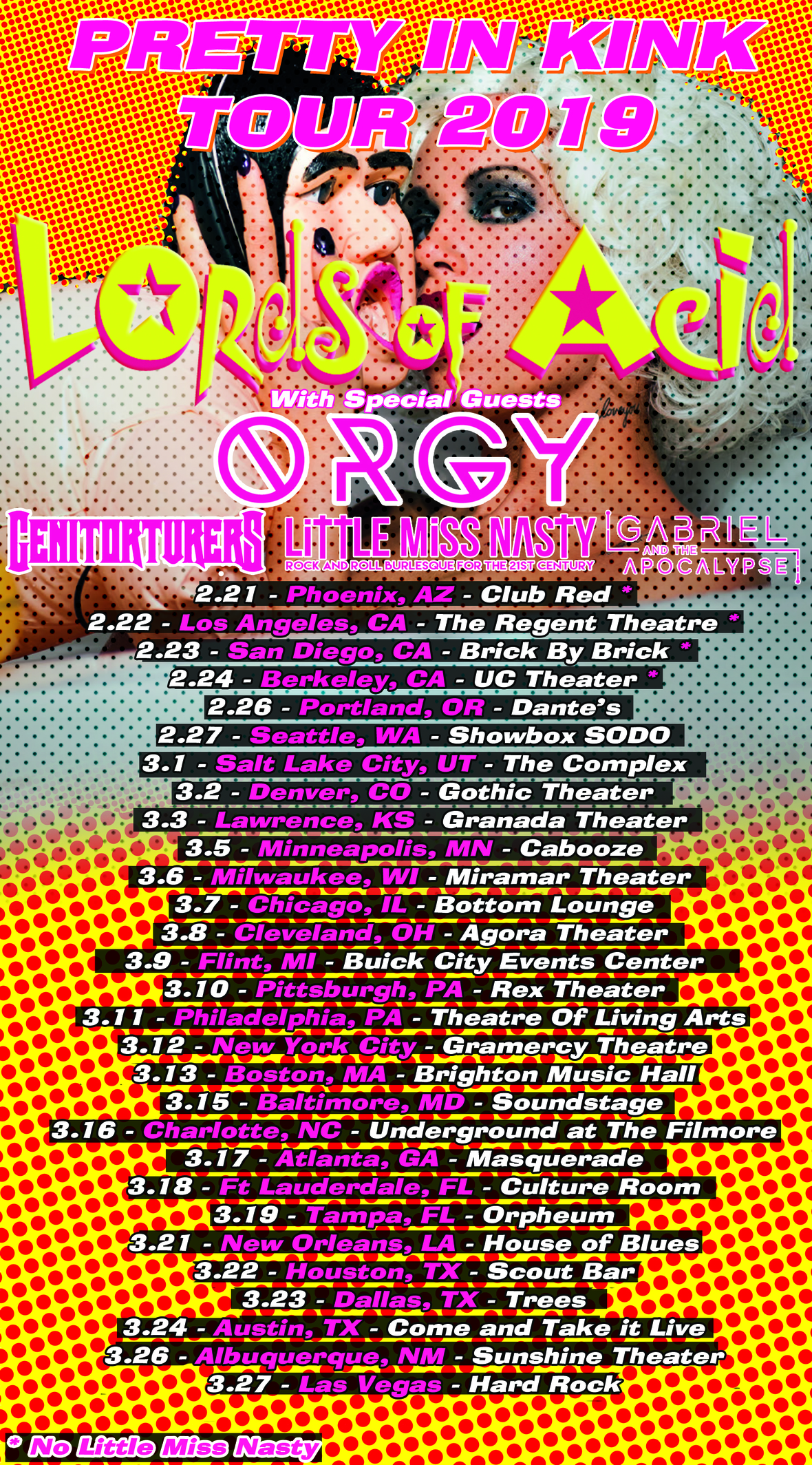 Lords Of Acid Announce Pretty In Kink Tour 2019 with Orgy, Genitorturers andmore