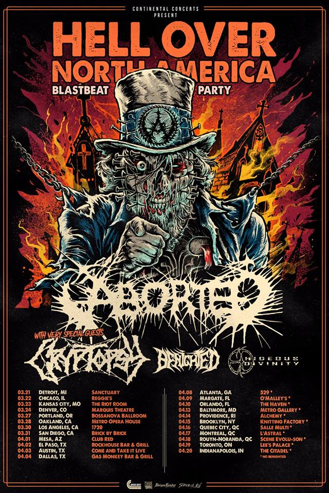 Aborted Announces Hell Over North America Spring Tour