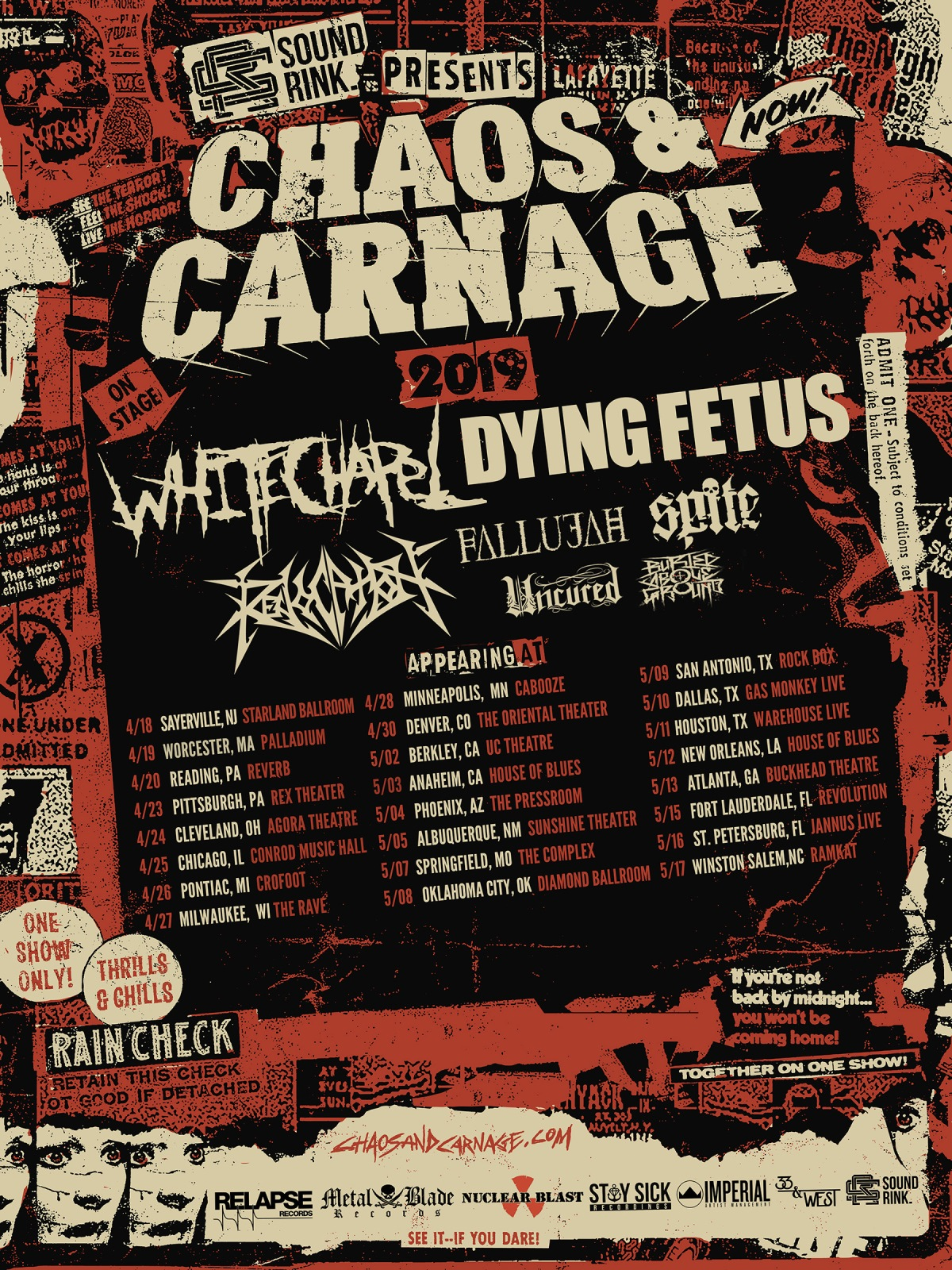 REVOCATION Kicks Off Chaos and Carnage US Tour With Whitechapel, Dying Fetus, Fallujah, And More
