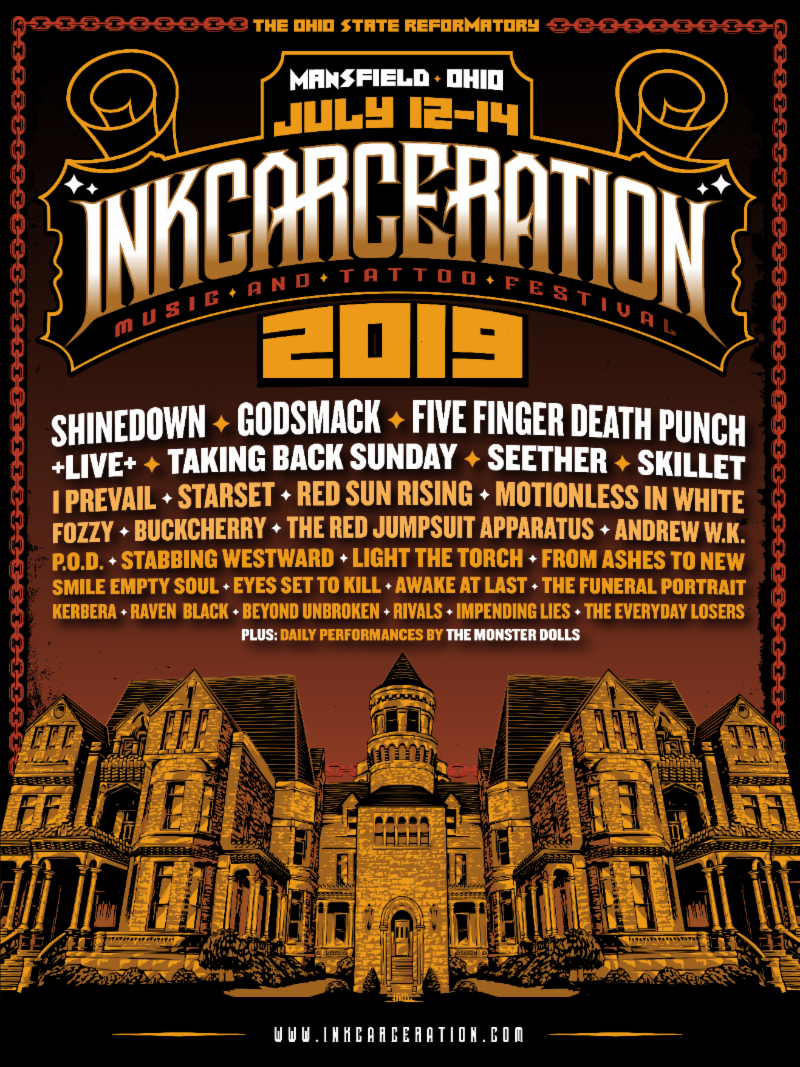 INKCARCERATION Music and Tattoo Festival Announces Massive 3-Day LineUp