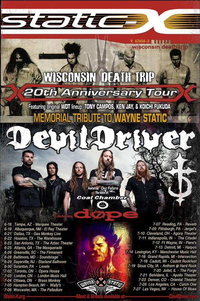 STATIC-X Announces Wisconsin Death Trip 20th AnniversaryTour