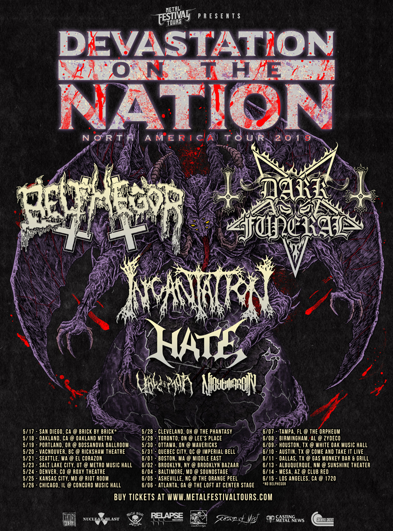 BELPHEGOR announces North American co-headlining tour with DARKFUNERAL