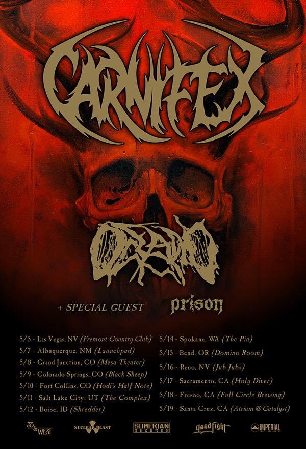 Carnifex, Oceano and Prison Announce U.S.Tour