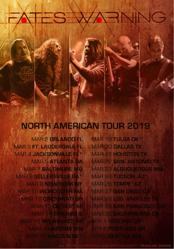 FATES WARNING – North American tour with Queensryche and additional dates!