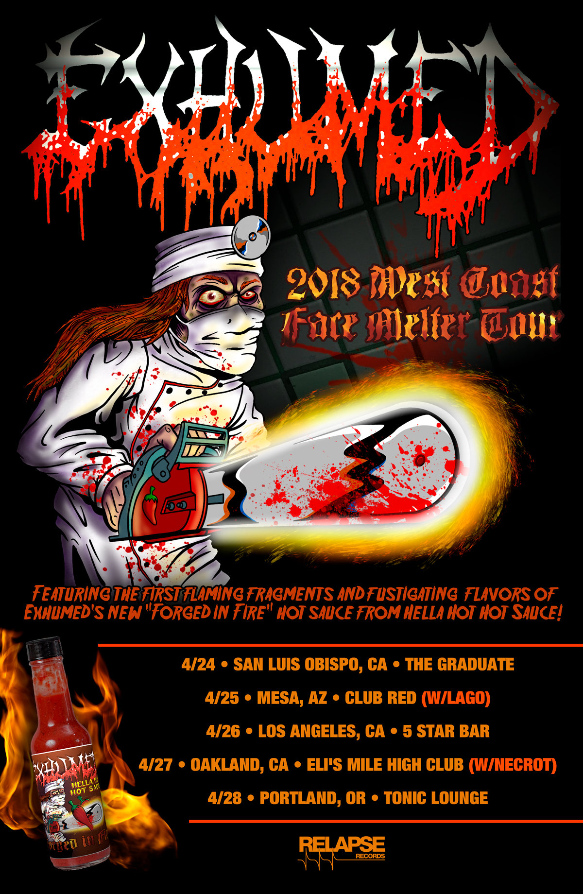 EXHUMED: Announce West Coast Facemelter Tour