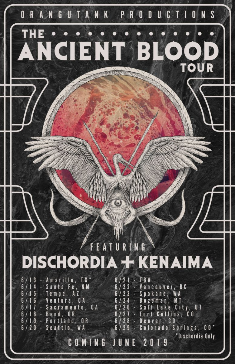 Oklahoma City-based Progressive Death Metal Trio DISCHORDIA Announce The Ancient Blood Tour