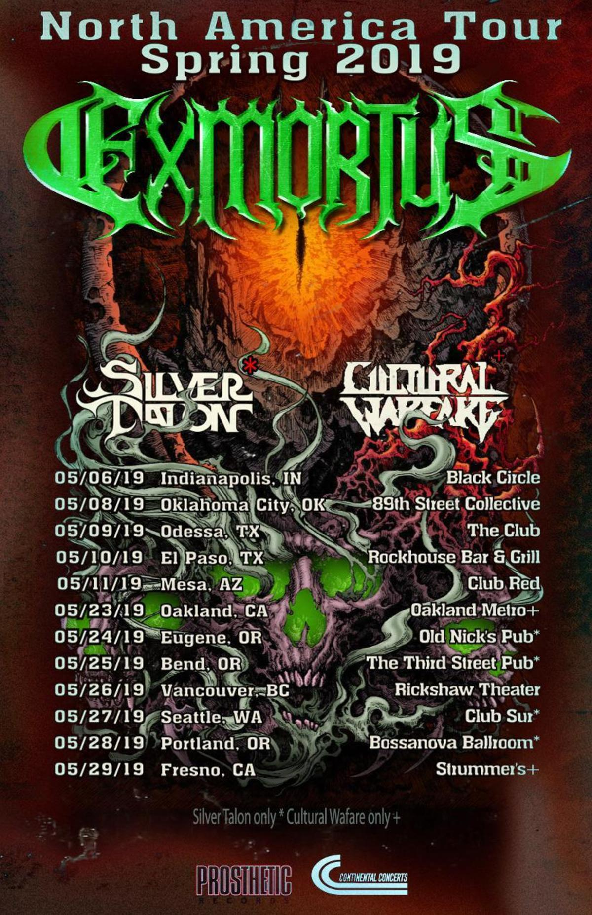 EXMORTUS confirm North American Spring Tour!