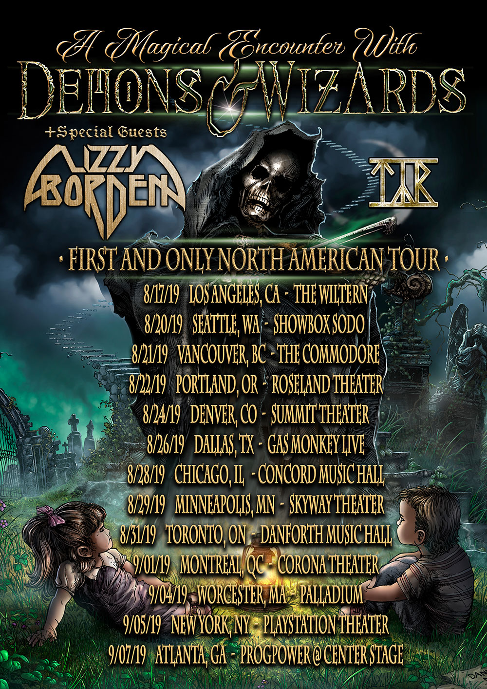 Lizzy Borden Announces North American Summer Tour with Demons & Wizards andTýr