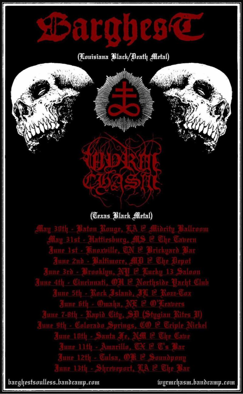 WYRM CHASM Announce U.S. Tour with BARGHEST