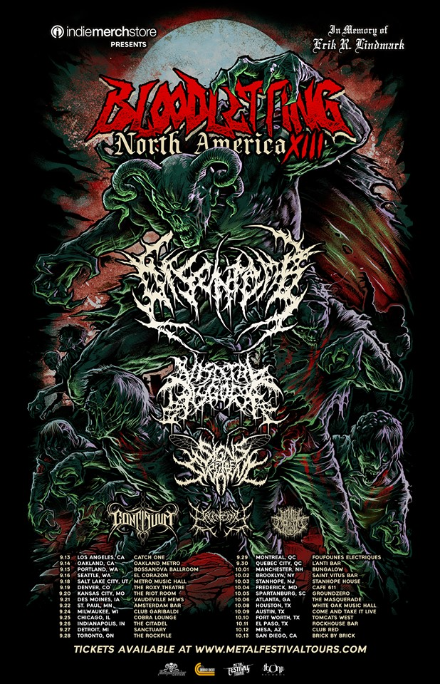 Bloodletting North America Tour 2019 Announced