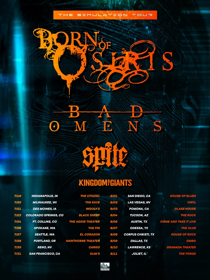 Born of Osiris, Bad Omens, SPITE And Kingdom Of Giants Announce SummerTour