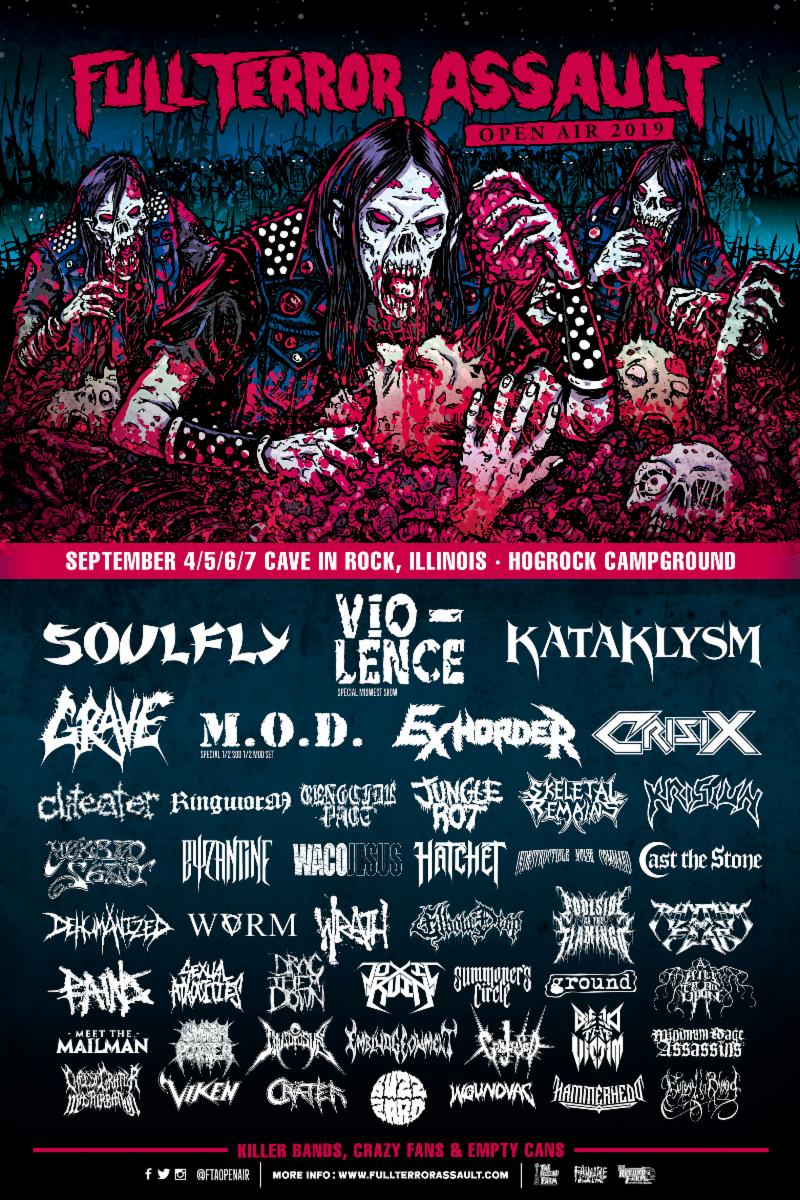 Full Terror Assault Open Air Festival Returns for Fifth Year with Headliners Soulfly And Vio-lence