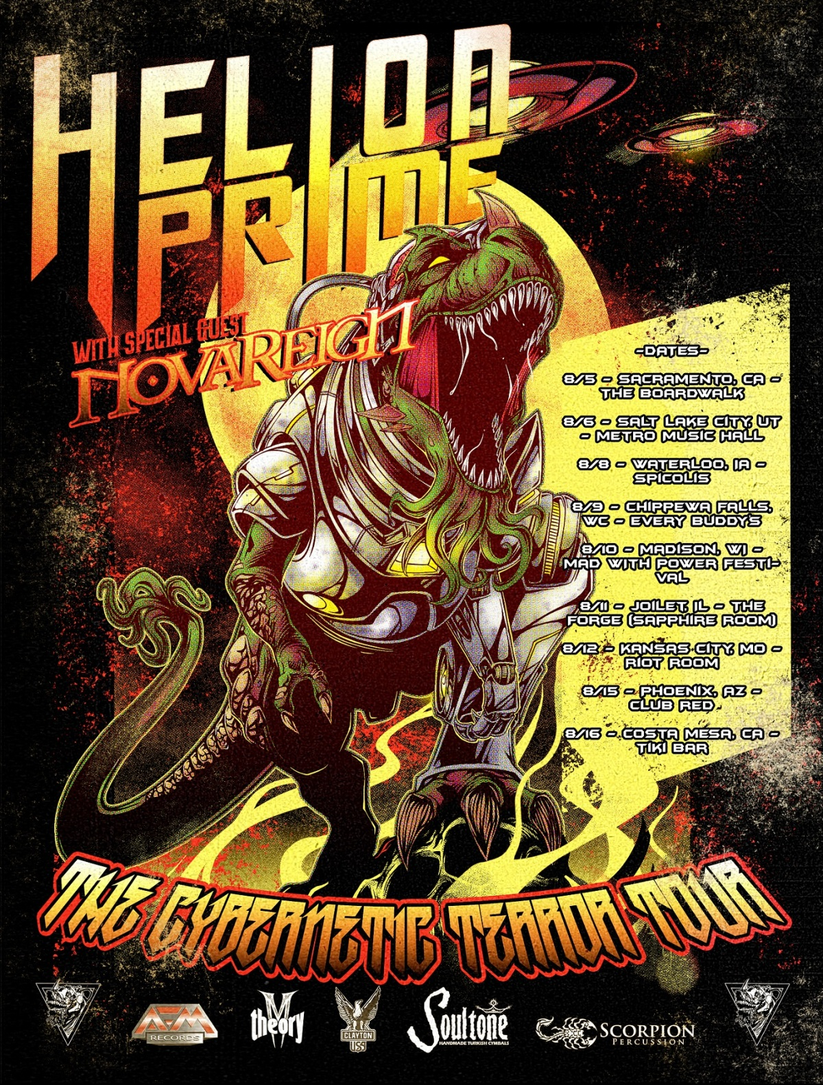 Sci-Fi Power Metal HELION PRIME Announces 'The Cybernetic Terror Tour'