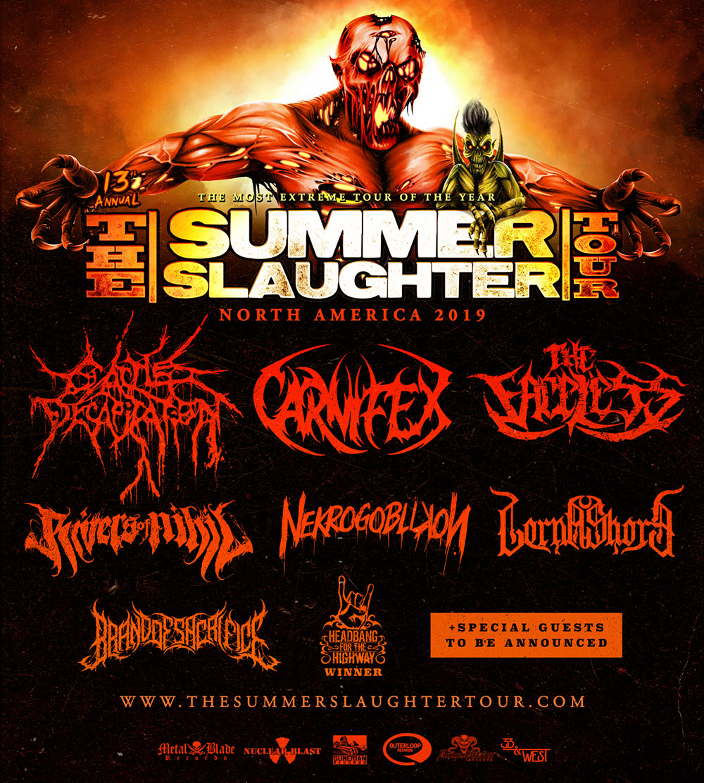 Cattle Decapitation to perform at The Summer Slaughter Tour 2019
