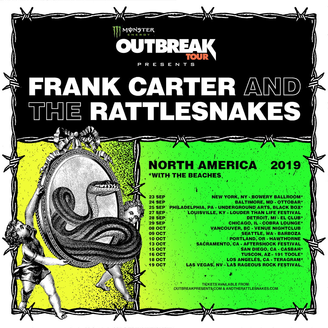 Frank Carter and The Rattlesnakes Announce North American Tour