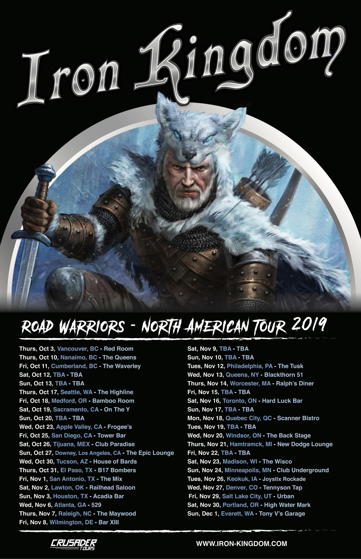 IRON KINGDOM Announces North American TourDates
