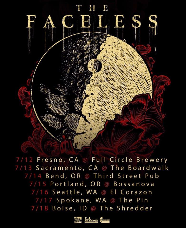 Watch THE FACELESS Live At The Boardwalk In Orangevale, California