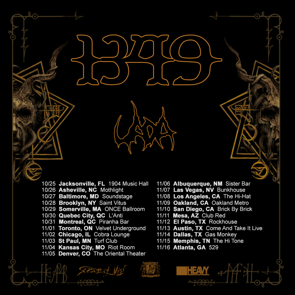 1349 Announce Second Batch of North American Fall Tour Dates!
