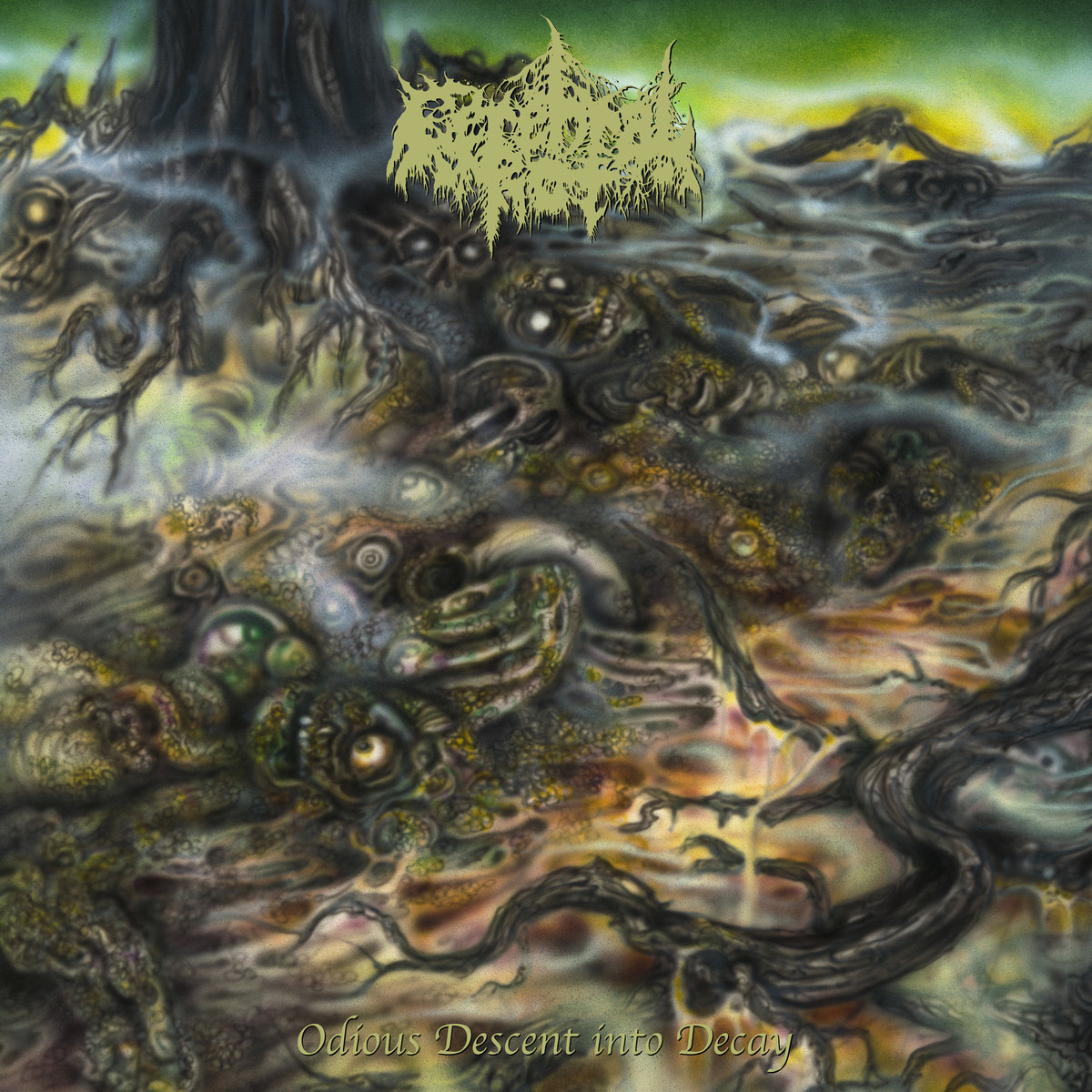 "CEREBRAL ROT – ""Odious Descent into Decay"" via 20 Buck Spin on August 16th"