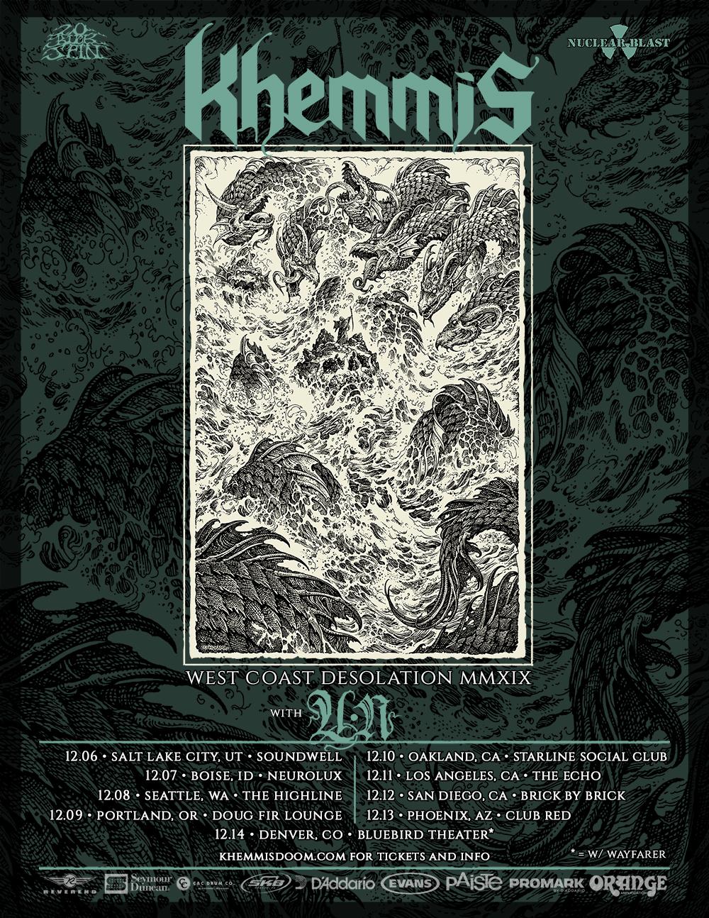 UN announce US tour withKhemmis